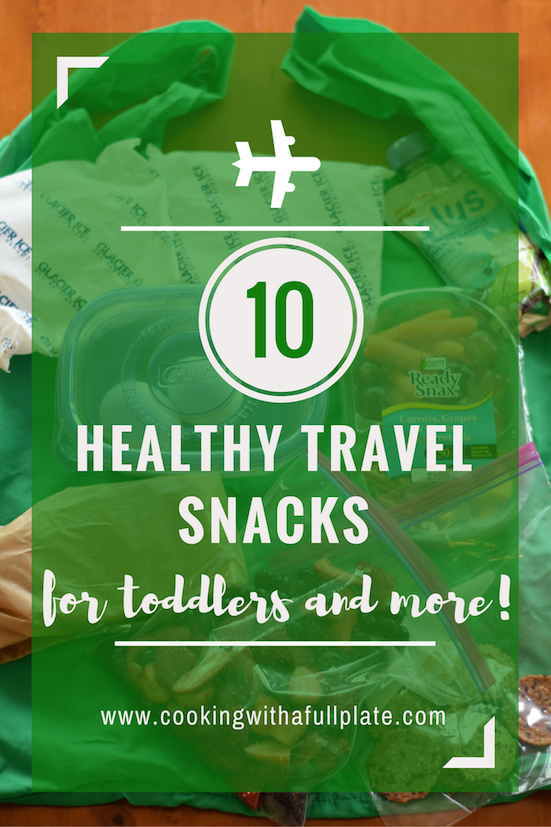 Take the guesswork out of healthy travel with this list of 10 healthy toddler-friendly snacks! These are great for keeping little ones busy on your next airplane trip or just for a long ride in the car. Click through for all of the details!