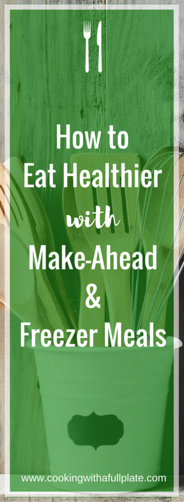 Learn why taking on make-ahead and freezer meals are a great strategy even for the busiest families. Utilizing these tips will help you save money and eat healthier, less processed food with less cooking, cleaning, and daily decision making. Click through to get all the tips and recipe links.