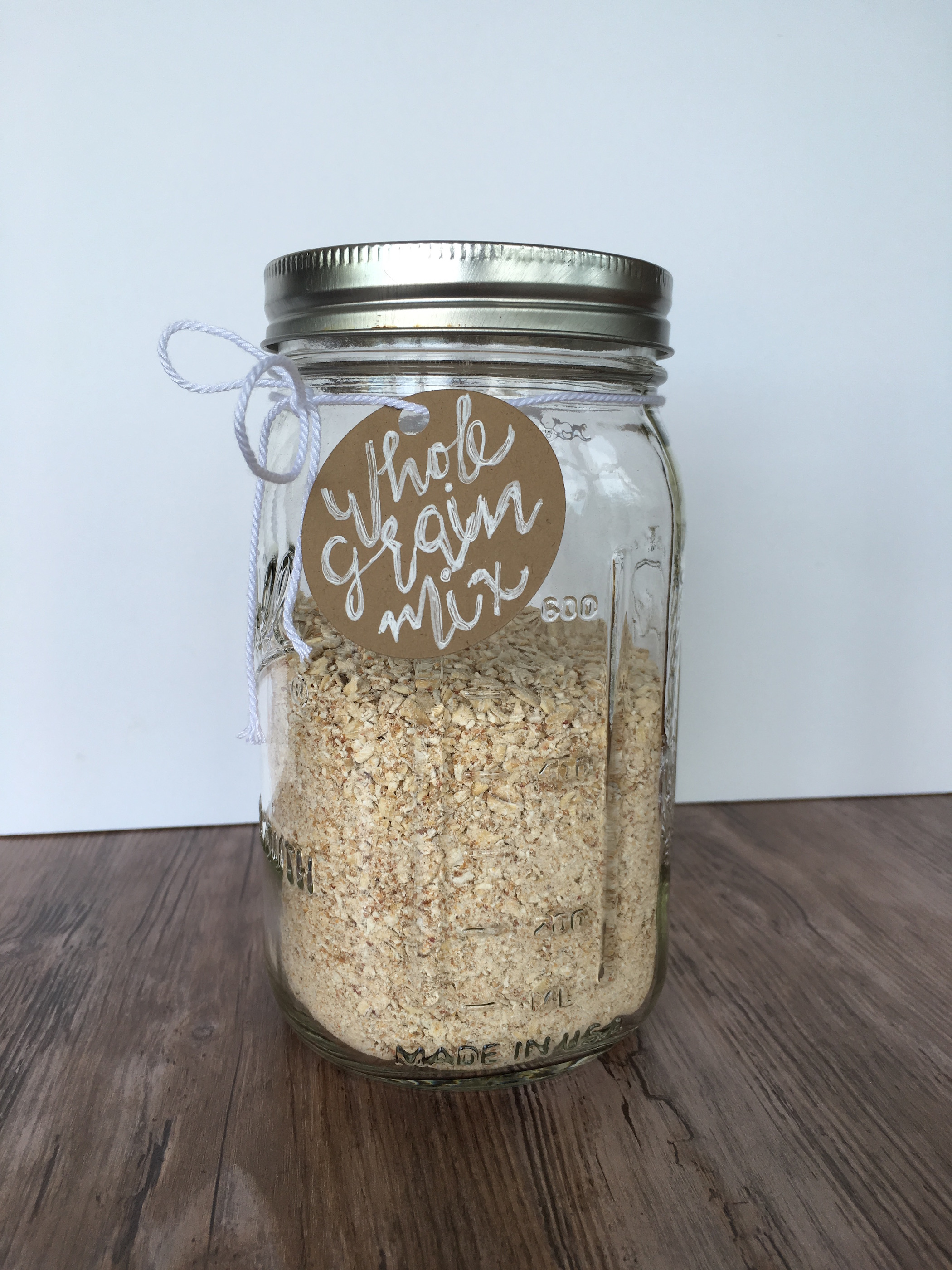 healthy muffin mix in jar