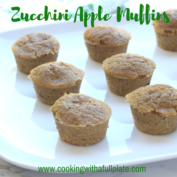Healthy Zucchini Apple Muffins