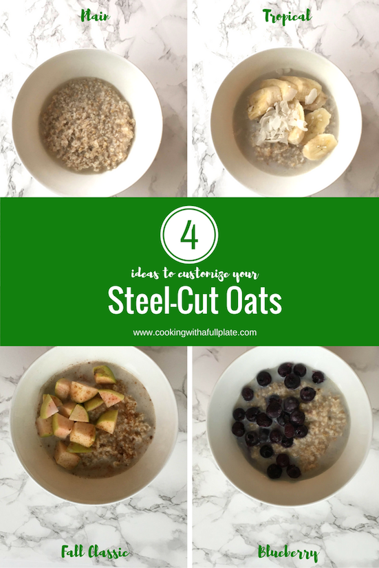Easily make your oats even more delicious by adding simple, healthy flavorings. This works perfectly with pre-frozen steel-cut oats that almost anyone in the family can make for a quick breakfast. Click through for all the details on the oats and the variations!