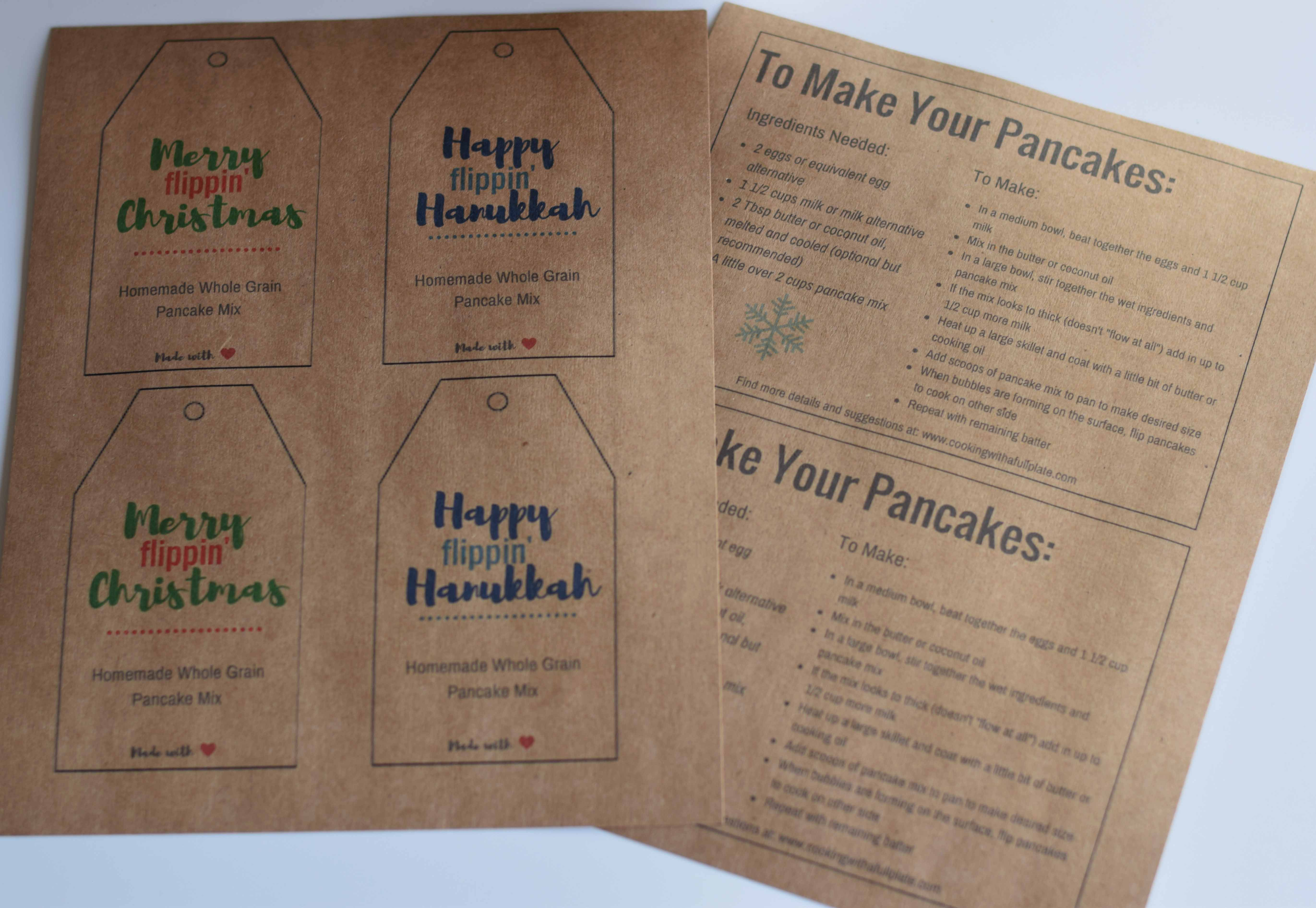 Homemade holiday gift labels