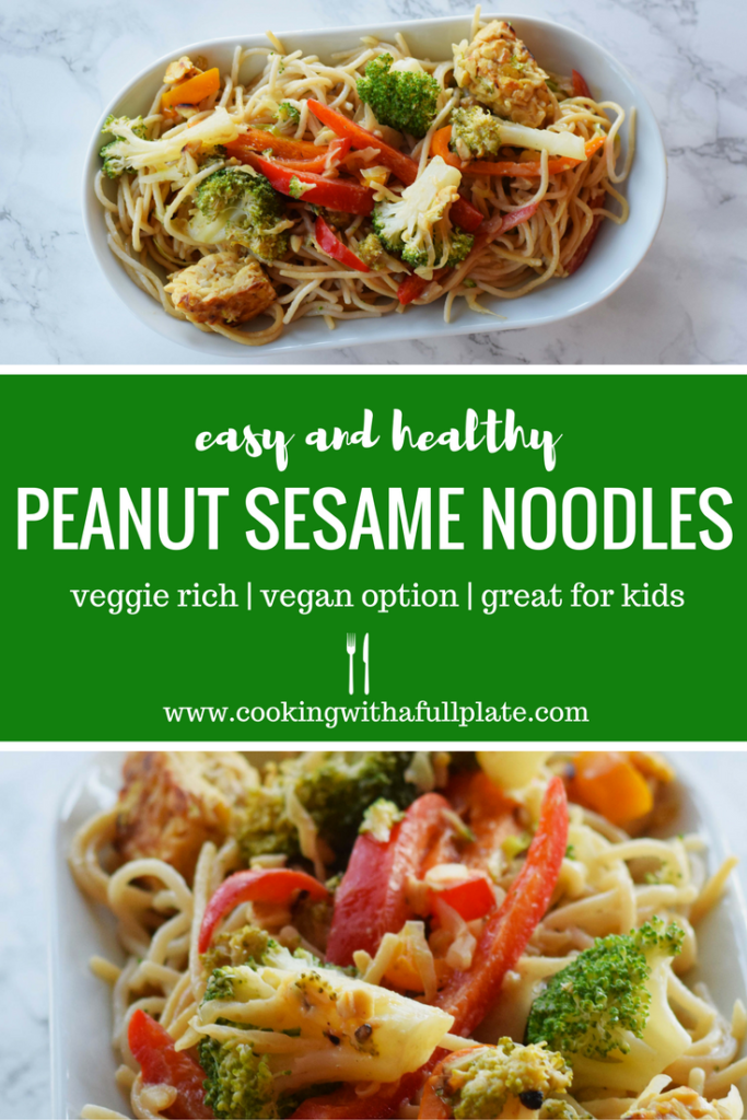 Easy and Healthy Peanut Sesame Noodles - Cooking With a ...