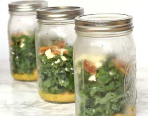 Kale Feta Meal Prep Mason Jar Salad