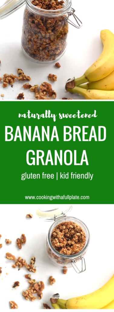 Banana Bread Granola | Naturally Sweet | Refined Sugar Free | Gluten Free | Kid Friendly | Make Ahead | Real Food | Unprocessed Food | Healthy Family Food