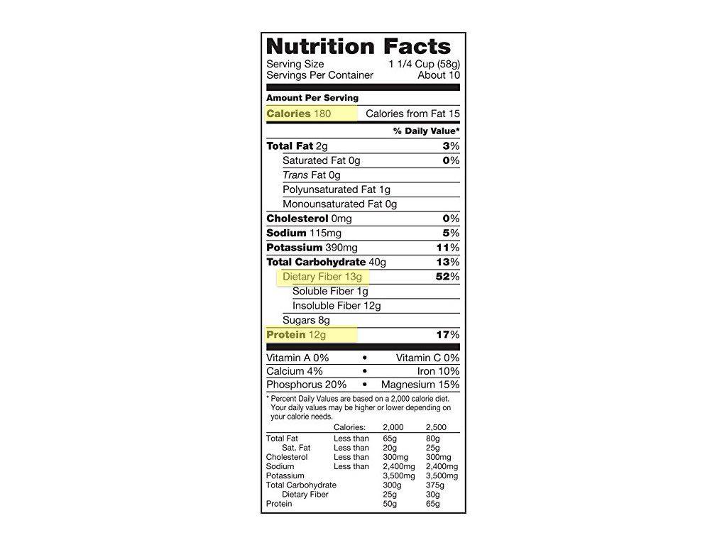 Kashi Nutrition Label